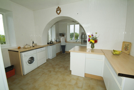 The large kitchen at the Ardoux gite