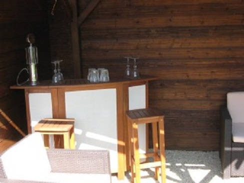 private bar with Rattan furniture