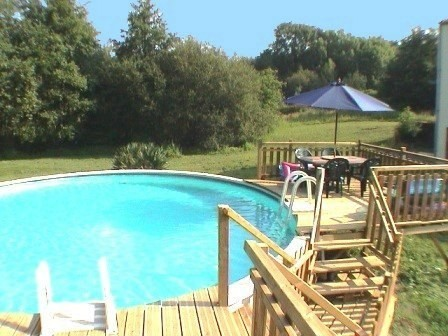 heated swimming pool at The Mill 7 bedroom holiday home in the Vendee